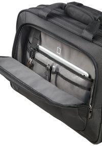 Czarna torba na laptopa Samsonite w kolorowe wzory