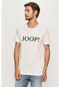 Biały t-shirt JOOP! casualowy, z nadrukiem