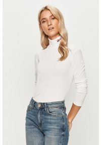 Biała bluzka z długim rękawem Reebok Classic na co dzień, casualowa