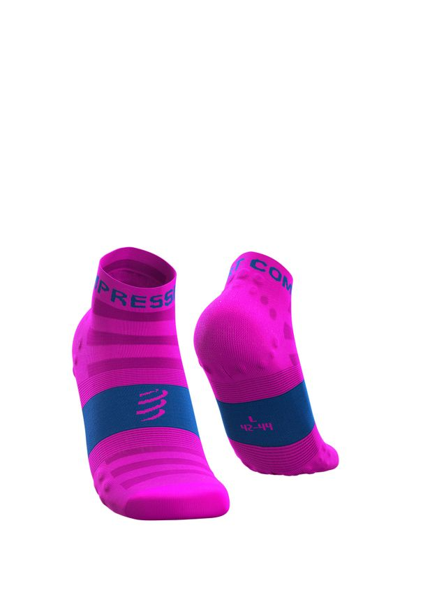 Compressport - Skarpety COMPRESSPORT PRORACING SOCKS V3.0 ULTRALIGHT RUN LOW. Kolor: różowy. Materiał: mesh, włókno, skóra. Sport: bieganie