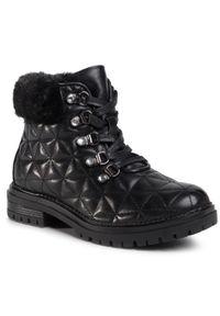 Czarne buty zimowe Nelli Blu na spacer, z aplikacjami