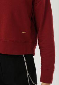 Born2be - Bordowa Bluza Shinyfrost. Kolor: czerwony