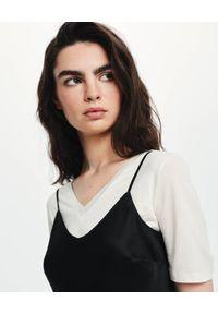 LOVLI SILK - Czarna jedwabna sukienka z odkrytymi plecami #NO.5. Kolor: czarny. Materiał: jedwab. Długość rękawa: na ramiączkach. Długość: maxi
