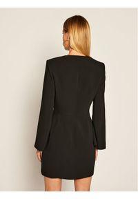 Czarna sukienka koktajlowa Elisabetta Franchi wizytowa
