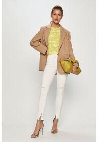 Białe jeansy Miss Sixty gładkie, klasyczne