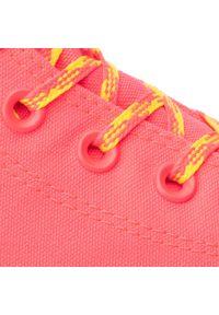 Różowe trampki Converse z cholewką