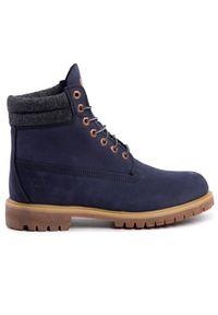 Niebieskie buty trekkingowe Timberland