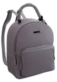 Plecak damski szary Monnari BAG0030-019 JZ20. Kolor: szary. Materiał: skóra ekologiczna