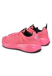 Różowe buty sportowe Puma do biegania