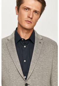 Szara marynarka Calvin Klein klasyczna, na co dzień, melanż
