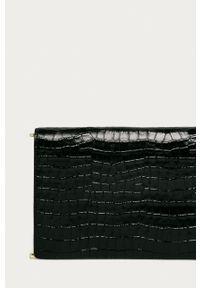 DKNY - Dkny - Kopertówka skórzana. Kolor: czarny. Materiał: skórzane