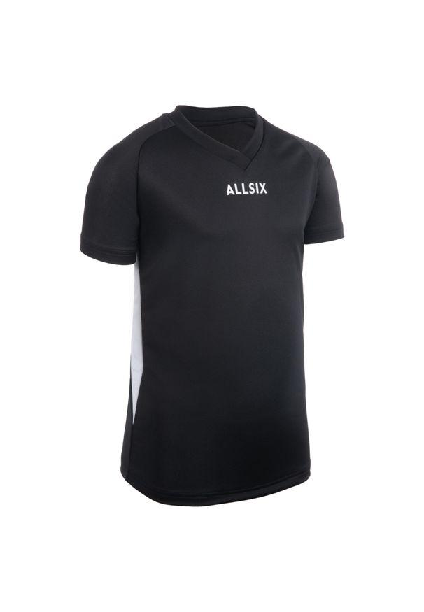 ALLSIX - Koszulka siatkarska dla chłopców Allsix V100. Kolor: biały, czarny, wielokolorowy. Materiał: poliester, materiał
