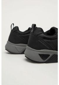 Czarne sneakersy Big-Star na sznurówki, z cholewką