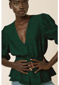 IVY & OAK - Bluzka BETTY. Okazja: na co dzień. Kolor: turkusowy. Długość: krótkie. Styl: casual
