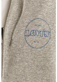 Szara bluza rozpinana Levi's® casualowa, z kapturem, na spotkanie biznesowe #5