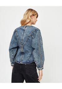 ISABEL MARANT - Jeansowa bluzka Ulinae. Kolor: niebieski. Materiał: jeans. Długość: długie. Wzór: aplikacja