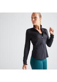 Bluza sportowa DOMYOS na fitness i siłownię, w ażurowe wzory