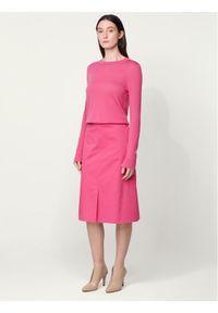 Różowy sweter klasyczny BOSS