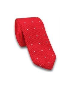 Dziergany krawat typu knit - Chattier. Kolor: czerwony. Materiał: poliester. Styl: sportowy