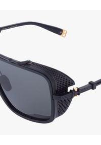 Czarne okulary przeciwsłoneczne Balmain