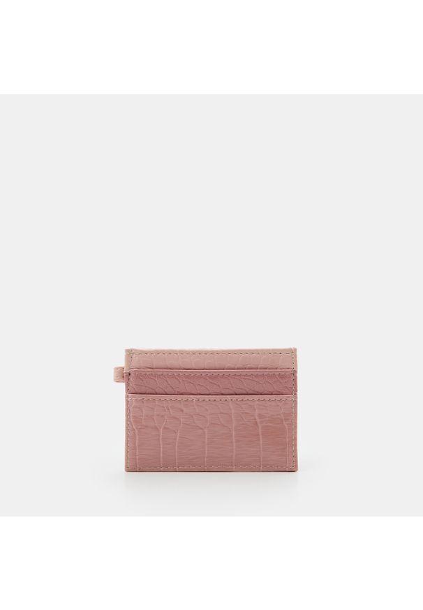 Sinsay - Etui na karty - Różowy. Kolor: różowy