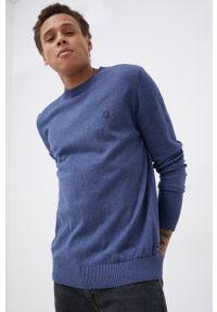Premium by Jack&Jones - Sweter z domieszką kaszmiru. Okazja: na co dzień. Kolor: niebieski. Materiał: kaszmir. Długość rękawa: długi rękaw. Długość: długie. Styl: casual