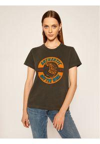 Vans T-Shirt Charra VN0A4SDG Szary Regular Fit. Kolor: szary