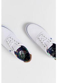 Polo Ralph Lauren - Tenisówki. Nosek buta: okrągły. Zapięcie: sznurówki. Kolor: biały. Materiał: guma