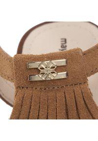 Brązowe sandały Mayoral na co dzień, z aplikacjami, casualowe