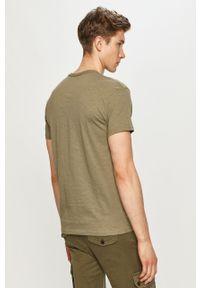 Zielony t-shirt Jack & Jones casualowy, na co dzień, z aplikacjami