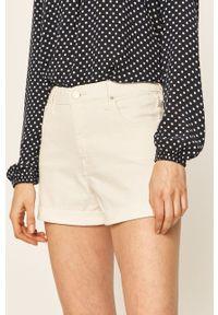 Lee - Szorty jeansowe. Kolor: biały. Materiał: jeans