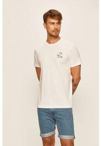 Biały t-shirt Selected z okrągłym kołnierzem