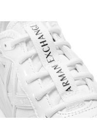 Białe półbuty Armani Exchange casualowe, z cholewką, na co dzień