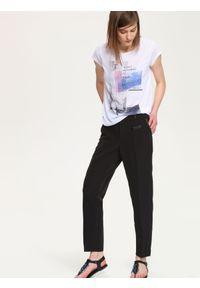 Czarne spodnie TROLL długie, klasyczne, do pracy