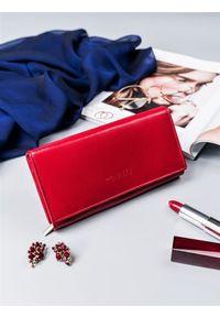 4U CAVALDI - Portfel damski czerwony Cavaldi RD-12-GCL RED. Kolor: czerwony. Materiał: skóra
