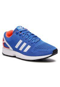 Niebieskie sneakersy Adidas Adidas ZX Flux, z cholewką
