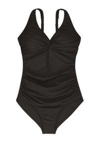 Czarny strój kąpielowy Dorina z odpinanymi ramiączkami