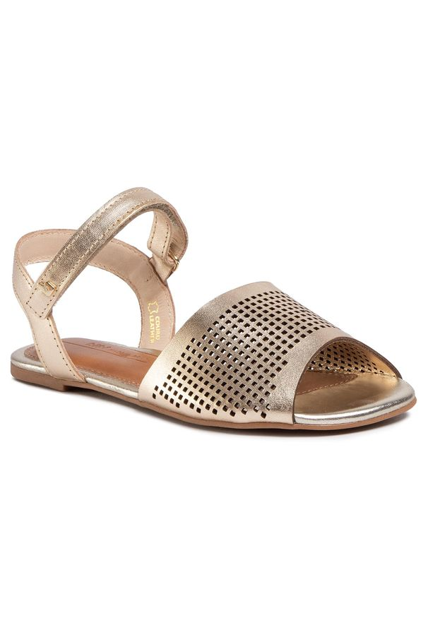 Złote sandały Bibi na lato