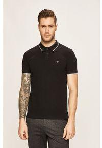 Czarna koszulka polo Wrangler casualowa, na co dzień, polo, krótka