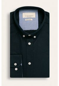 Niebieska koszula Tailored & Originals na co dzień, button down, casualowa