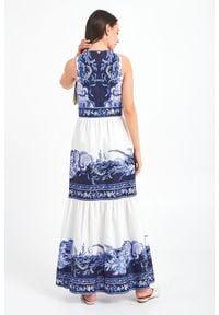 TwinSet - SUKIENKA TWINSET. Długość rękawa: bez rękawów. Typ sukienki: rozkloszowane. Długość: maxi