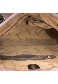 Fioletowa torebka klasyczna Wittchen skórzana, klasyczna