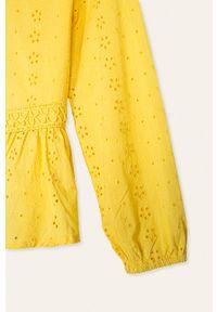 Żółta bluzka Kids Only casualowa, długa, z okrągłym kołnierzem #3