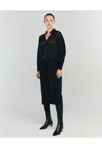 ANIA KUCZYŃSKA - Sukienka z bawełnianej koronki Mezzogiorno. Kolor: czarny. Materiał: koronka, bawełna. Wzór: koronka. Sezon: lato. Typ sukienki: proste. Styl: retro