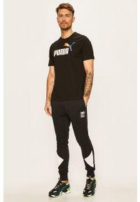 Czarny t-shirt Puma casualowy, na co dzień
