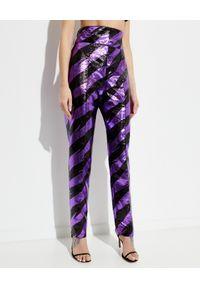 ALEXANDRE VAUTHIER - Dwukolorowe spodnie z wysokim stanem. Stan: podwyższony. Kolor: czarny. Materiał: materiał. Wzór: paski