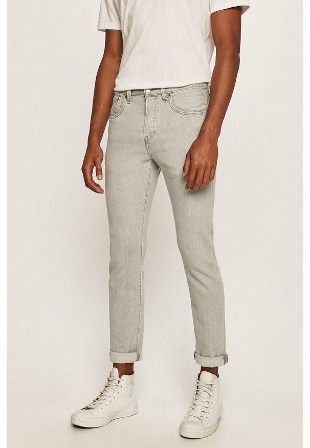 Szare jeansy Levi's® na spotkanie biznesowe, w kolorowe wzory, biznesowe