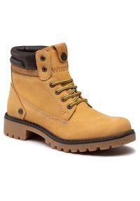Żółte buty trekkingowe Wrangler