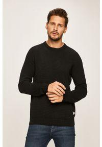Czarny sweter PRODUKT by Jack & Jones z okrągłym kołnierzem, casualowy, na co dzień