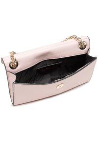 Różowa torebka Blumarine skórzana